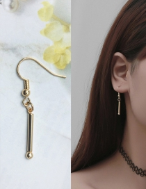 Fashion Gold Color Pure Color Decorated Earrings (1 Pc )