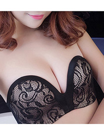 Sexy Black Hollow Out Design Magic Bra