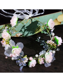 Fashion Light Pink Flower Shape Decorated Hair Band