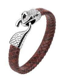 Fashion Coffee Snake Shape Decorated Bracelet