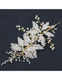 Fashion White Bead Decorated Hair Accessories