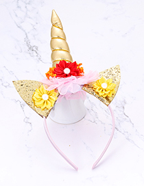 Fashion Gold Color Cat&unicorn Shape Decorated Hair Hoop
