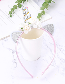 Fashion Silver Color Unicorn Shape Decorated Hair Hoop