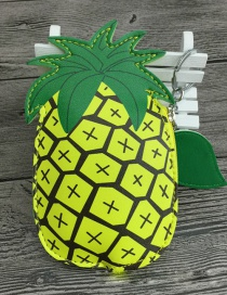 Lovely Yellow+green Pineapple Shape Design Wallet