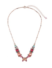 Fashion Pink Geometric Shape Decorated Necklace