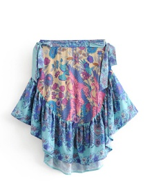 Fashion Multi-color Flamingos Pattern Decorated Skirt