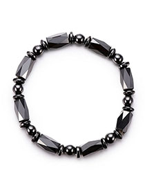 Fashion Black Pure Color Decorated Bracelet