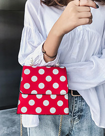 Elegant Red Dots Pattern Decorated Square Shape Bag