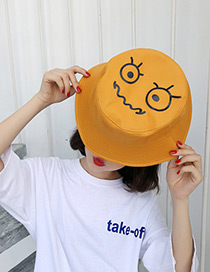 Fashion Yellow Cartoon Pattern Decorated Leisure Cap