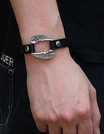 Elegant Black Wings Decorated Simple Bracelet