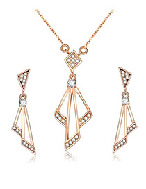 Fashion Gold Color Geometric Shape Design Jewelry Sets