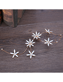 Fashion White Flowers Decorated Hair Accessories