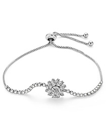 Fashion Silver Color Screw Shape Decorated Simple Bracelet