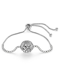 Fashion Silver Color Round Shape Decorated Simple Bracelet
