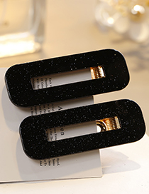 Sweet Black Square Shape Design Hair Clip(1pairs)