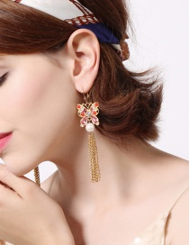 Fashion Gold Color Butterfly Shape Decorated Earrings