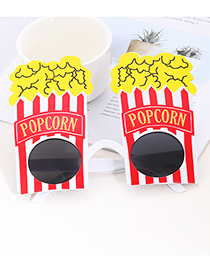 Fashion Multi-color Popcorn Shape Decorated Glasses