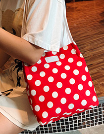 Fashion Red Dots Pattern Decorated Bag
