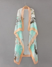 Fashion Multi-color Tree Pattern Decorated Scarf