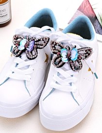 Fashion Pink Butterfly Shape Decorated Shoe Accessories(2pcs)
