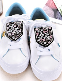 Fashion Black Geometric Shape Decorated Shoe Accessories(2pcs)