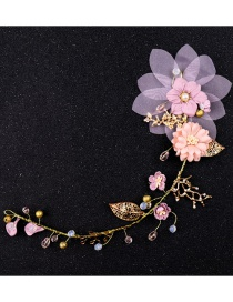 Fashion Pink Flower Shape Decorated Hair Accessories