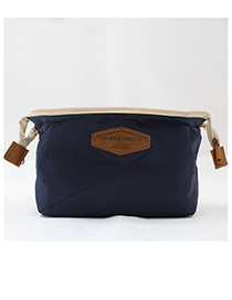 Fashion Navy Letter Pattern Decorated Storage Bag
