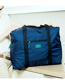 Fashion Navy Pure Color Decorated Storage Bag