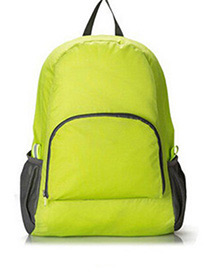 Fashion Green Pure Color Decorated Backpack