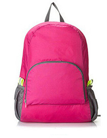 Fashion Plum Red Pure Color Decorated Backpack