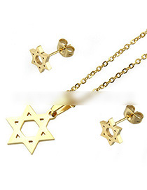 Fashion Gold Color Star Shape Decorated Jewelry Set