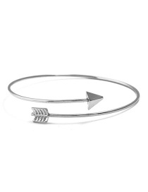 Fashion Silver Color Arrow Shape Pure Color Bracelet