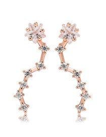 Fashion Rose Gold Star Shape Decorated Earrings