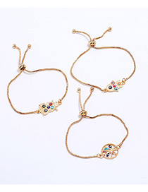 Lovely Gold Color Owl&tree Decorated Simple Bracelet(3pcs)