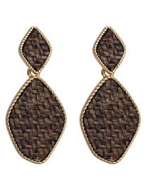 Fashion Brown Irregular Shape Decorated Earrings