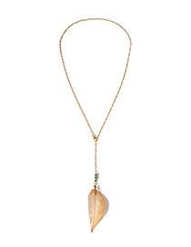 Fashion Gold Color Leaf Shape Design Necklace