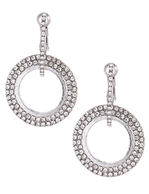Fashion Silver Color Round Shape Decorated Earrings
