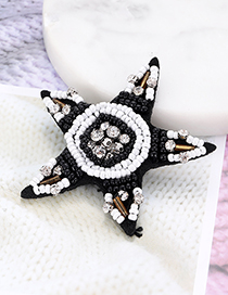 Fashion White Star Shape Decorated Patch