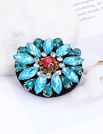 Fashion Blue Flower Shape Decorated Patch
