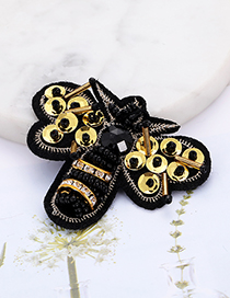 Fashion Black+yellow Bee Shape Decorated Patch