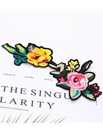 Fashion Multi-color Flower Shape Decorated Patch