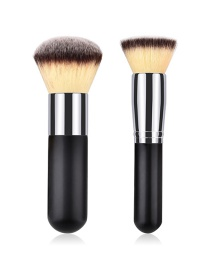 Fashion Silver Color+black Color Matching Design Cosmetic Brush(2pcs)