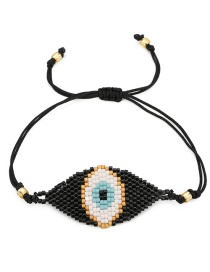 Fashion Black Eyes Shape Design Simple Bracelet