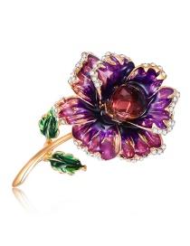 Fashion Multi-color Flower Shape Design Color Matching Brooch