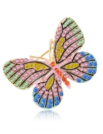 Fashion Multi-color Butterfly Shape Design Color Matching Brooch