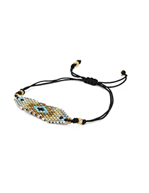 Fashion Black Geometric Shape Decorated Bracelet