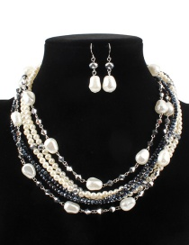 Fashion White Multi-layer Deisgn Jewelry Sets