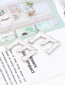 Fashion Silver Color Letter E Shape Decorated Earrings