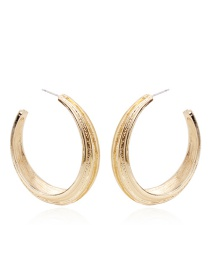 Fashion Gold Color Pure Color Decorated Round Earrings