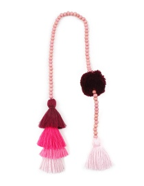 Fashion Pink Tassel Decorated Keychain